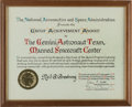 Explorers:Space Exploration, Gemini Program: Neil Armstrong's Personal NASA Gemini Group Achievement Award, Directly From The Armstrong Family Collection™,...