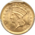 Gold Dollars, 1874 G$1 MS66 PCGS. PCGS Population: (71/37 and 9/4+). NGC Census: (51/36 and 1/1+). CDN: $1,475 Whsle. Bid for problem-fre...