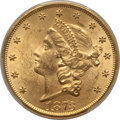 Liberty Double Eagles, 1873 $20 Open 3, Doubled Die Obverse, FS-101, MS62 PCGS. CAC. PCGS Population: (113/9). NGC Census: (46/9). MS62. ...