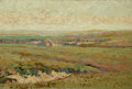 Fine Art - Painting, American, Birger Sandzén (American, 1871-1954). View of WesternKansas, 1911. Oil on canvas. 12 x 18 inches (30.5 x 45.7 cm).Sign...