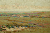 Birger Sandzén (American, 1871-1954) View of Western Kansas, 1911 Oil on canvas 12 x 18 inches (3