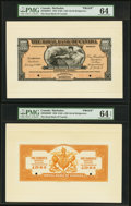 Canadian Currency, Bridgetown, Barbados- The Royal Bank of Canada $100 (£20-16-8)2.1.1920 Ch. # 630-30-06FP/BP Face/Back Proofs PMG Graded C...(Total: 2 notes)