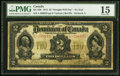 Canadian Currency, DC-22b $2 1914 PMG Choice Fine 15.. ...