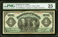 Canadian Currency, DC-18b $1 1911 PMG Very Fine 25.. ...