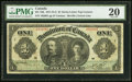 Canadian Currency, DC-18b $1 1911 PMG Very Fine 20.. ...