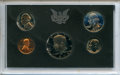 Five-Piece 1971-S Proof Set including a 1971 No S Nickel, Uncertified. In original Mint holder