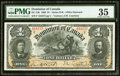 Canadian Currency, DC-13b $1 1898 PMG Choice Very Fine 35.. ...