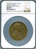 Lincoln, 1909 Medal Abraham Lincoln, Preserve, Protect, Defend, MS66 Brown NGC. King-304, Smedley-84, Cunningham-24-300Bz. Bronze, 6...