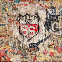 Greg Haberny (b. 1975) Phillips 66, 2010 Mixed media on wood 47 x 47-1/2 inches (119.4 x 120.7 cm