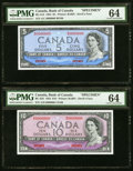 Canadian Currency, BC-31s; BC-32S; BC-33S; BC-34S; BC-35S $5; $10; $20; $50; $100 PMGChoice Uncirculated 64 (5).. ... (Total: 5 notes...