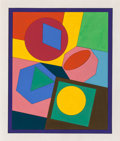 Post-War & Contemporary:Contemporary, Victor Vasarely (1906-1997). Orias, 1980. Acrylic on board.15-5/8 x 13-1/4 inches (39.7 x 33.7 cm). Signed twice, title...
