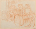 Fine Art - Work on Paper:Drawing, Jaime Valls (1883-1955)Orchestra, 1...