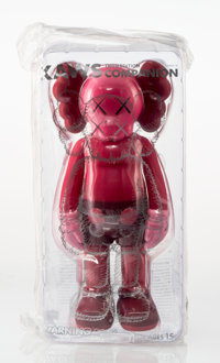KAWS (b. 1974) Companion (Blush), 2016 Painted cast vinyl 10-3/4 x 5-1/2 x 3-1/2 inches (27.3 x 1
