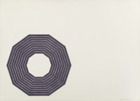 Frank Stella (b. 1936) Kay Bearman, from Purple Series, 1972 Lithograph in purple on wove