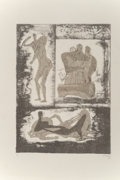 Prints & Multiples:Print, Henry Spencer Moore (1898-1986). Reclining & Standing Figure and Family Group, from Reclining Figures, 1973. Lithogr...