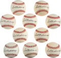Autographs:Baseballs, Circa 1990 Ted Williams Single Signed Baseballs Lot of 10.... (Total: 10 items)