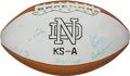 Autographs:Footballs, 1977 Notre Dame Team Signed Football - National Champions!...