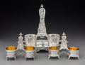 Silver & Vertu:Hollowware, A Set of Three Jean François Veyrat Partial Gilt Silver Cruet Stands from the Royal Egyptian Collection of Khedive Isma'il Pas... (Total: 3 )