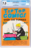 Platinum Age (1897-1937):Miscellaneous, Tip Top Comics #7 (United Feature Syndicate/Standard, 1936) CGC FN/VF 7.0 Off-white to white pages....