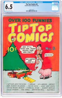 Tip Top Comics #8 (United Feature Syndicate/Standard, 1936) CGC FN+ 6.5 Cream to off-white pages