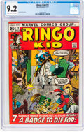 Bronze Age (1970-1979):Western, The Ringo Kid #12 (Marvel, 1971) CGC NM- 9.2 Cream to off-white pages....
