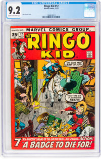 The Ringo Kid #12 (Marvel, 1971) CGC NM- 9.2 Cream to off-white pages