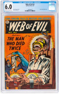 Golden Age (1938-1955):Horror, Web of Evil #5 (Quality, 1953) CGC FN 6.0 Cream to off-white pages....