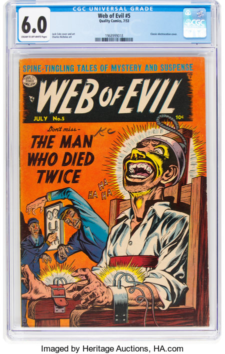 Web of Evil #5 (Quality, 1953) CGC FN 6.0 Cream to off-white pages....