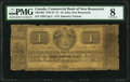 Canadian Currency, St. John, NB- Commerical Bank of New Brunswick 1 Pound 1.5.1857Ch.# 180-14-04 PMG Very Good 8.. ...