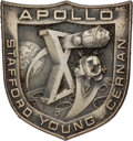 Explorers:Space Exploration, Apollo 10 Flown Silver Robbins Medallion, Serial Number 142, Directly from the Family Collection of Astronaut Wally Schirra....