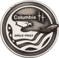 Explorers:Space Exploration, Space Shuttle Columbia (STS-2) Unflown Silver Robbins Medallion, Serial Number 215, Directly from the Family Colle...
