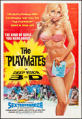 """Movie Posters:Adult, The Playmates in Deep Vision 3-D (Phantasy, 1973). Folded, Fine/Very Fine. One Sheet (27.75"""" X 41""""). Adult.. ..."""