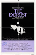 """Movie Posters:Horror, The Exorcist (Warner Brothers, 1974). Folded, Fine/Very Fine. Autographed One Sheet (27"""" X 41""""). Horror.. ..."""