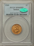 Indian Cents, 1909 1C MS66 Red PCGS. CAC....
