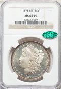 Morgan Dollars, 1878 8TF $1 Lines in LIB, VAM-2, MS65 Prooflike NGC. CAC....