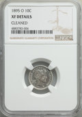 Barber Dimes, 1895-O 10C -- Cleaned -- NGC Details. XF. NGC Census: (11/58). PCGSPopulation: (28/97). CDN: $1,950 Whsle. Bid for problem...