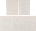 Explorers:Space Exploration, Wally Schirra: His Early (Circa 1963) Handwritten Notes Regarding the Upcoming Apollo Program, Directly from His Family's Coll...