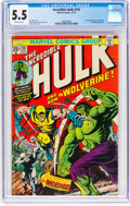 Bronze Age (1970-1979):Superhero, The Incredible Hulk #181 (Marvel, 1974) CGC FN- 5.5 Off-white pages....