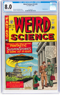 Weird Science #13 (#2) (EC, 1950) CGC VF 8.0 Cream to off-white pages
