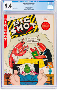 Big Shot Comics #72 Mile High Pedigree (Columbia, 1946) CGC NM 9.4 Off-white to white pages