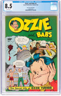 Golden Age (1938-1955):Humor, Ozzie and Babs #3 Mile High Pedigree (Fawcett Publications, 1948) CGC VF+ 8.5 Off-white pages....