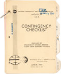 """Explorers:Space Exploration, Apollo 11 Training-Used: NASA Rare """"Apollo XI LM-5 Contingency Checklist"""" June 9, 1969-dated Book, Updated as of July 10, Dire..."""