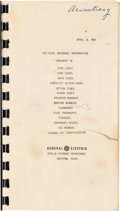 "Explorers:Space Exploration, Apollo 11: Neil Armstrong's Training-Used General Electric ""LMS-ISLGC Reference Information"" April 14, 1969-dated Book, Di..."