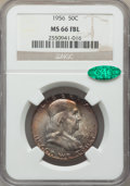 Franklin Half Dollars, 1956 50C MS66 Full Bell Lines NGC. CAC. NGC Census: (190/6). PCGS Population: (837/44). MS66. ...