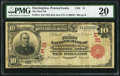 National Bank Notes:Pennsylvania, Huntingdon, PA - $10 1902 Red Seal Fr. 613 The First NB Ch. # (E)31 PMG Very Fine 20.. ...