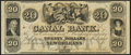 Obsoletes By State:Louisiana, New Orleans, LA- New Orleans Canal & Banking Company $20 18__ Remainder Choice Crisp Uncirculated.. ...