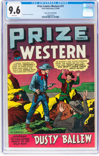 Prize Comics Western #71 Mile High Pedigree (Prize, 1948) CGC NM+ 9.6 White pages