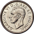 Canada, George VI 25 Cents 1943 MS62 PCGS, Royal Canadian ...