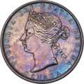 """Canada, Victoria """"No LCW"""" 50 Cents 1870 XF Detail (Polished) PCGS,..."""