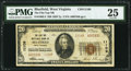 National Bank Notes:West Virginia, Bluefield, WV - $20 1929 Ty. 2 The Flat Top NB Ch. # 11109 PMG VeryFine 25.. ...